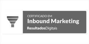 Certificado em Inbound Marketing pela Resultados Digitais